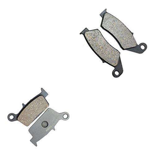 CNBK Resin Brake Pads Set for HONDA Dirt Bike XR400 XR 400 cc 400cc R 96 97 98 99 00 01 02 03 04 05 1996 1997 1998 1999 2000 2001 2002 2003 2004 2005 4 Pads