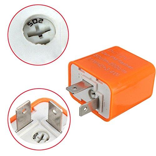 2-Pin 12V Motorcycle LED Turn Signal Flasher Relay Speed Adjustable Indicator