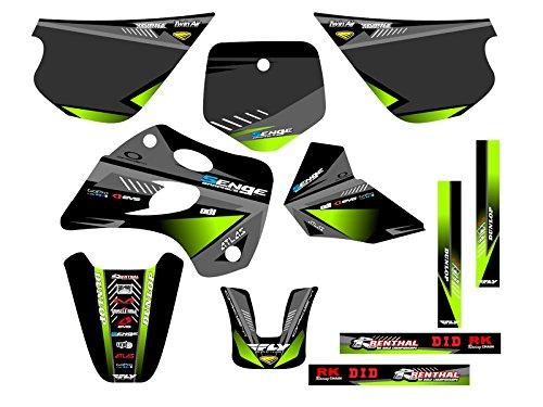Senge Graphics 1994-1997 Kawasaki KX 80 Surge Black Graphics Kit