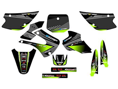 Senge Graphics 1998-2000 Kawasaki KX 80 Surge Black Graphics Kit