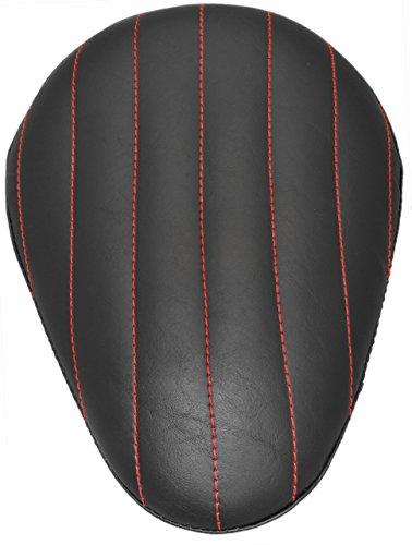Chopper Bobber 13 Eliminator Solo Seat Black Tuk N Roll - Red Thread