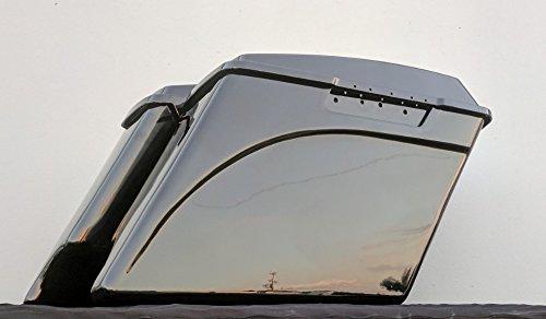 Hard Saddlebags 4 Extended Stretched Gloss Vivid Black ABS Plastic for Harley Davidson Touring Models 1993-2013