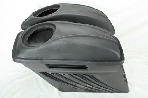 USA-Biker Bagger 4 Stretched Extended Saddlebags W Lids 4 Harley Touring Softail Led Lights 97-13