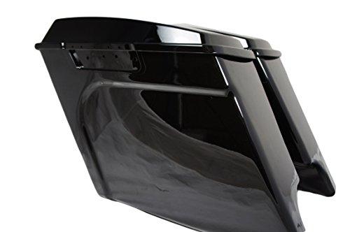 Vivid Black Extended Hard Saddlebags 4 For Harley Touring