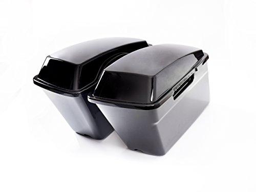 Vivid Black Hard Extended Saddlebags- Fits 2014 Harley Davidson Touring