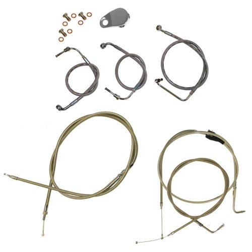 LA CHOPPERS HANDLEBAR CABLE KIT FOR 1996-07 FL TOURING WITH MINI APE HANGERS C01000725