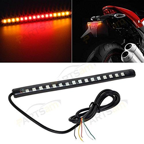 Partsam Tail Brake & Signal Function 5050 Led Strip Bar Light For Universal Motorcycles