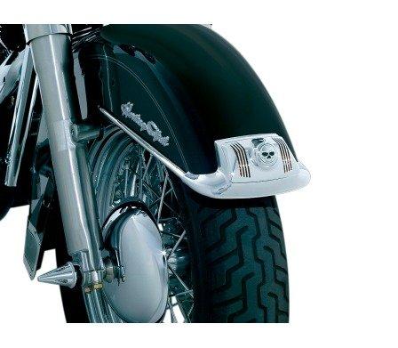 BK Rider Zombie Lens Grilles for Fender Tip Lights Chrome pr for Harley-Davidson 1980-2008 FLTFLHTFLHR 1986-2012 FLST Models with Fender Tip Lights