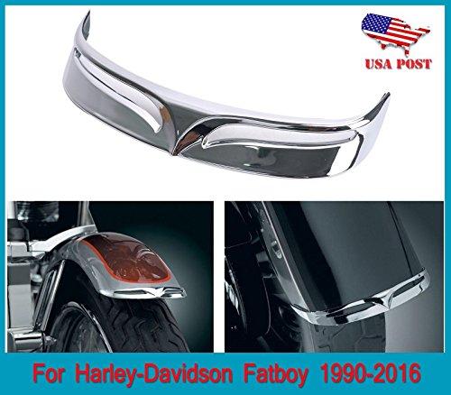 Chrome Plated Rusty Free Rear Fender Tip fits Harley-Davidson FLSTF Fat Boy 2007 2008 2009 2010 2011 2012 2013 2014 2015 2016 2017