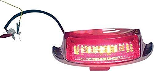 Custom Dynamics GEN-FT-TOUR-R Fender Tip Light Chrome Rear with Red Lens