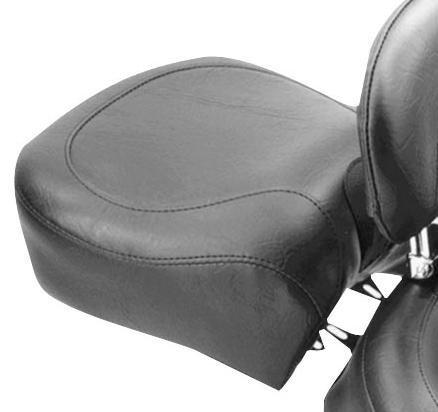 Mustang Wide Vintage Recessed Rear Seat Black Fits 07-12 Harley FXD Dyna Super Glide