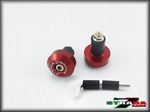 Strada 7 Racing CNC Handle Bar Ends Green For Ducati Paul Smart LE