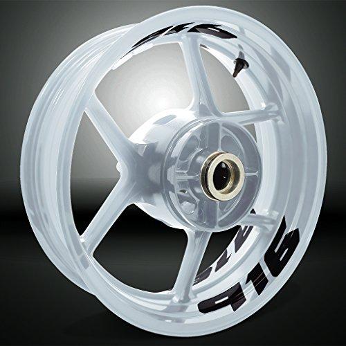 Gloss Black Motorcycle Inner Rim Tape Sticker Decal for Ducati 916