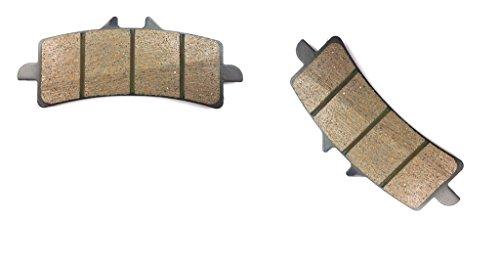 CNBK Front Right Brake Pad Semi-Metallic fit DUCATI Street Bike 848 Evo Monobloc front calipers 10 11 12 13 14 15 2010 2011 2012 2013 2014 2015 1 Pair2 Pads