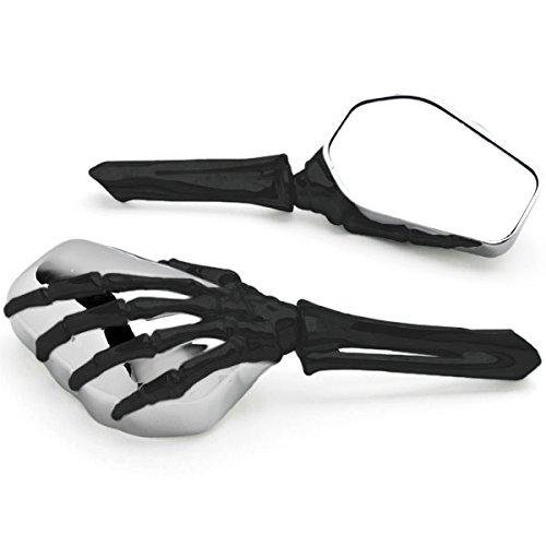 Krator BlackChrome Skeleton Hand Motorcycle Mirrors For Ducati Sport Classic GT 1000 ST2 ST3 ST4