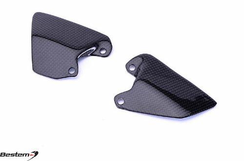 Bestem CBDU-996-FHGD Black Carbon Fiber Heel Guard Plates for Ducati 748 916 996 998