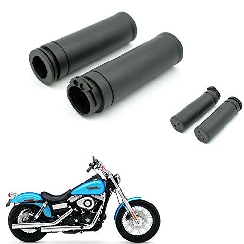 Rubber 1 Handlebar Hand Grip For Harley Touring Sportster Dyna Softail V-Rod