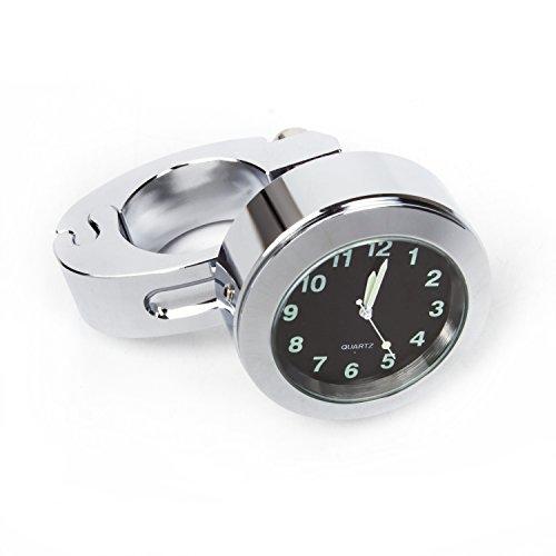 Universal Waterproof Motorcycle Handlebar Mount Clock Fit 78 or 1 Handlebar Watch for Harleyhondayamahastreet Bike