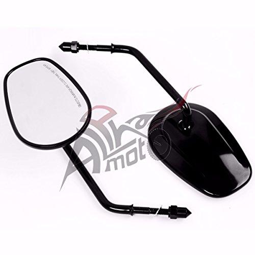 Pair Chrome Rear View Mirrors for Harley Davidson XL1200L XL883 XL883L Sportster Black