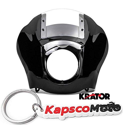 Krator NEW Black Clear Quarter Fairing Windshield Kit for Harley Davidson XL FXR Dyna  KapscoMoto Keychain