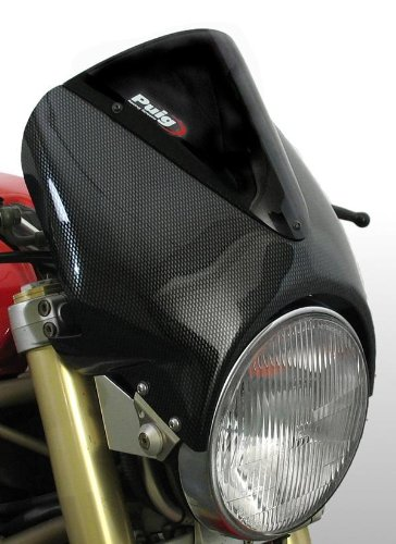Puig 1516C Carbon Vision Semi-Fairing Windshield for 8 Round Headlight