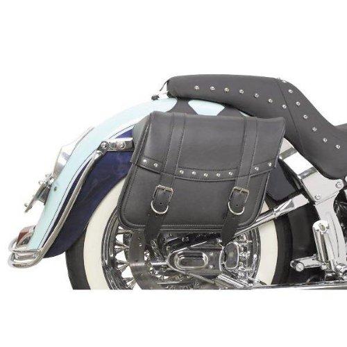 Saddlemen Highwayman Riveted Slant Saddlebags - Large/black