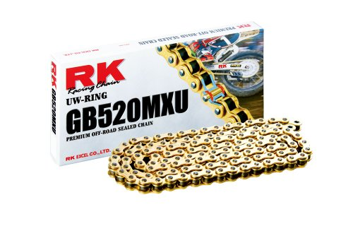 RK Racing Chain GB520MXU-110 Gold 110-Links UW-Ring Chain with Connecting Link