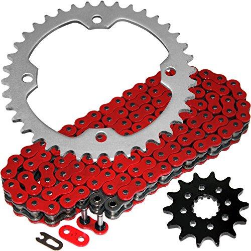 Caltric Red O-Ring Drive Chain Sprockets Kit Fits YAMAHA YFZ450 YFZ-450 2004-2013