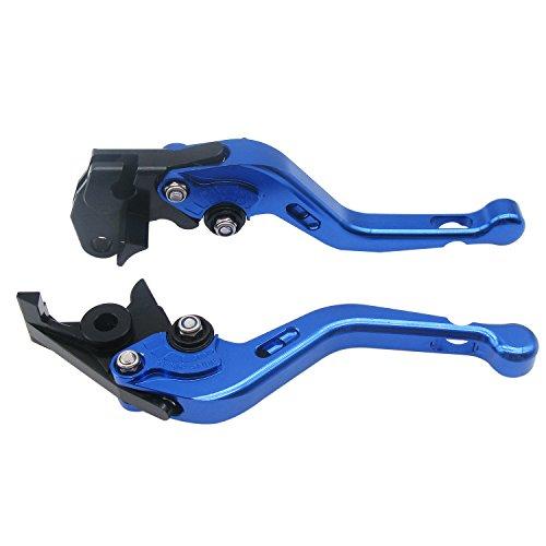 1 Set Front Brake Clutch Handle LeversECLEAR Motorcycle Adjustable Brake Master Cylinder For Aprilia MANA 850 2007-2012 - Blue