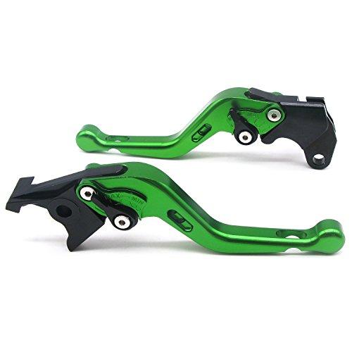 1 Set Front Brake Clutch Handle LeversECLEAR Motorcycle Adjustable Brake Master Cylinder For Honda CBR600RR 2003-2006 - Green