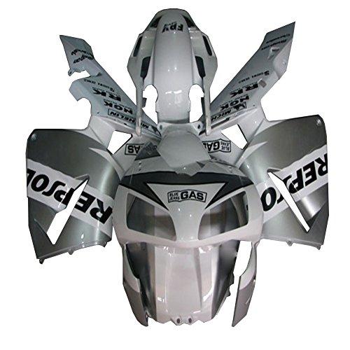 Free windscreenheatshieldfairing bolts White Silver Injection ABS Bodywork Fairing Fit for Honda 2003-2004 CBR600RR F5 aa32