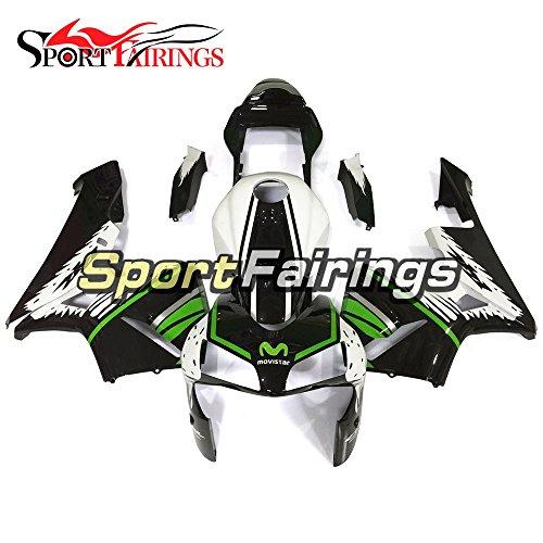 Sportfairings Green Black White Injection ABS Plastic Motorcycle Fairing Kits For Honda CBR600RR F5 Year 2003 2004 Hulls