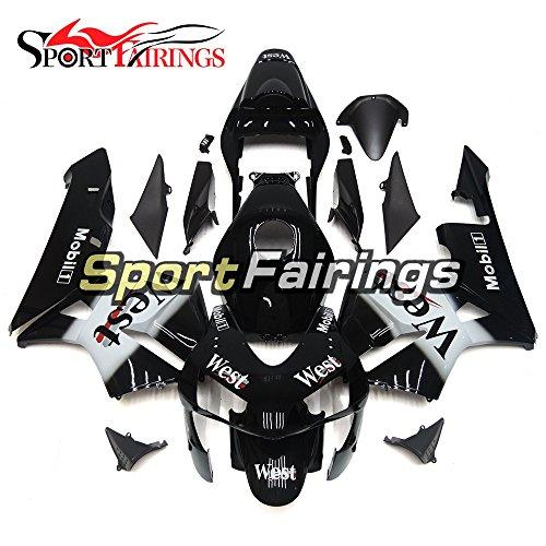 Sportfairings Injection ABS Plastic Motorcycle Black White Fairings For Honda CBR600RR F5 Year 2003 2004 Fairing Kits