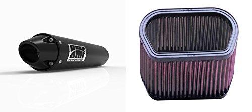 K&N Air Filter HMF Black Performance-Series Slip On Exhaust Euro-Black for Yamaha R1 2002-2003