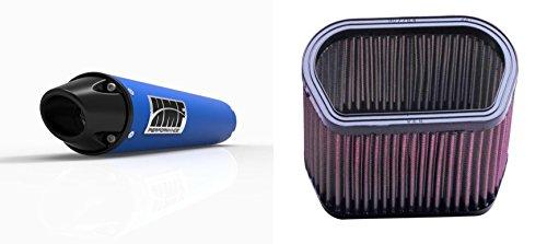 K&N Air Filter HMF Blue Performance-Series Slip On Exhaust Euro-Black for Yamaha R1 2002-2003