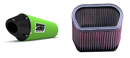 K&N Air Filter HMF Green Performance-Series Slip On Exhaust Euro-Black for Yamaha R1 2002-2003