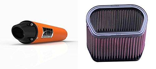 K&N Air Filter HMF Orange Performance-Series Slip On Exhaust Euro-Black for Yamaha R1 2002-2003