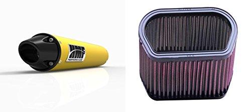 K&N Air Filter HMF Yellow Performance-Series Slip On Exhaust Euro-Black for Yamaha R1 2002-2003