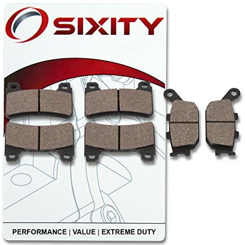 Sixity Front  Rear Ceramic Brake Pads 2005-2006 Honda CBR600RR Set Full Kit Complete