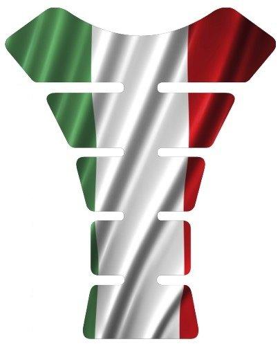Motorcycle Italian Italy Waving Flag Sportbike Gel Tank Pad Protector Tankpad Guard Sticker