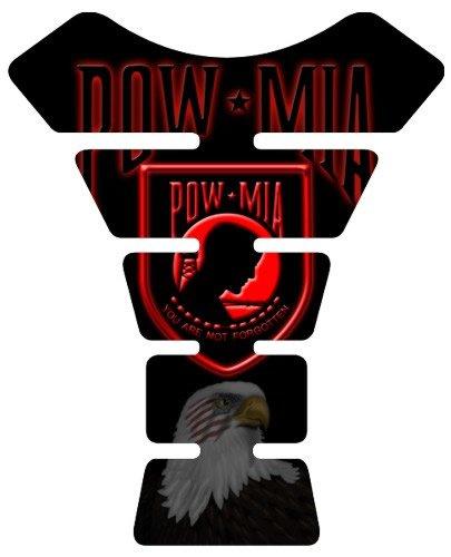 Motorcycle Sportbike Pow Mia Red 3d Gel Tank Pad Tankpad Protector