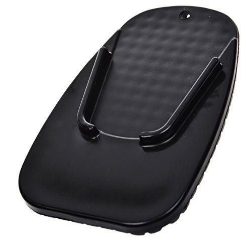 BCP Black Color Motorcycle Kickstand Pad