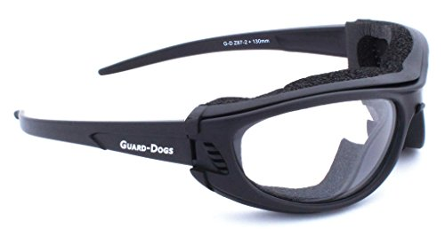 Guard-Dogs Aggressive Eyewear Sidecars 3 wGoggle-It Clear FogStopper