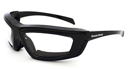 Guard-Dogs Aggressive Eyewear Sidecars 4 wGoggle-It Black Onyx Clear FogStopper