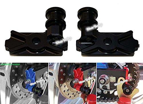 waase Motorcycle CNC Aluminium Swingarm Swing Arm Spool Slider Adapters  Mounts For Honda CBR250R 2011 2012 2013  CB300F CBR300R 2014 2015 2016 Black