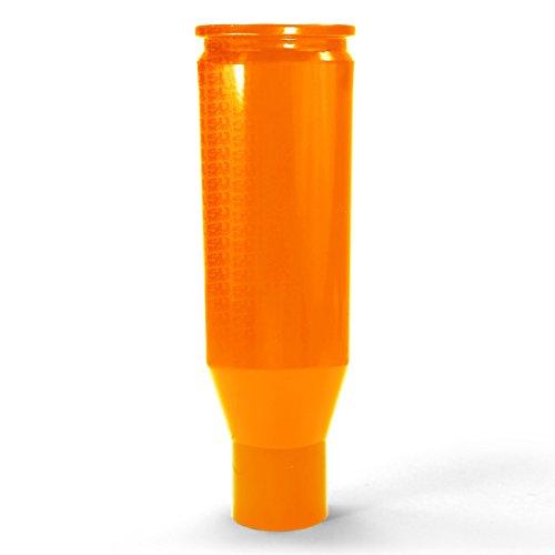 50 Caliber CNC Machined Bullet Racing Shift Knob Solid Billet Aluminum Orange with Logo fits Polaris RZR Models 5348E1