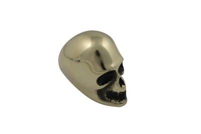 V-Twin 21-2121 - Brass Skull Style Shifter Knob