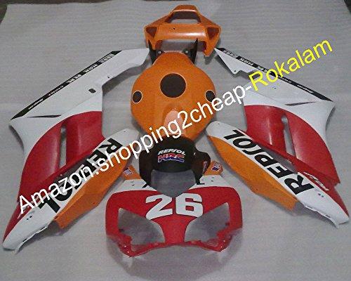 Hot SalesRed white black orange For Honda CBR1000 RR 04 05 CBR1000RR 2004 2005 Plastic Moto Fairing Kit Injection molding