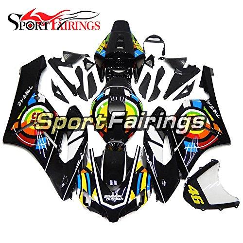 Sportfairings Black Colorful Plastics ABS Injection Motorcycle Fairing Kits For Honda CBR1000RR Year 2004 2005 Body Kits
