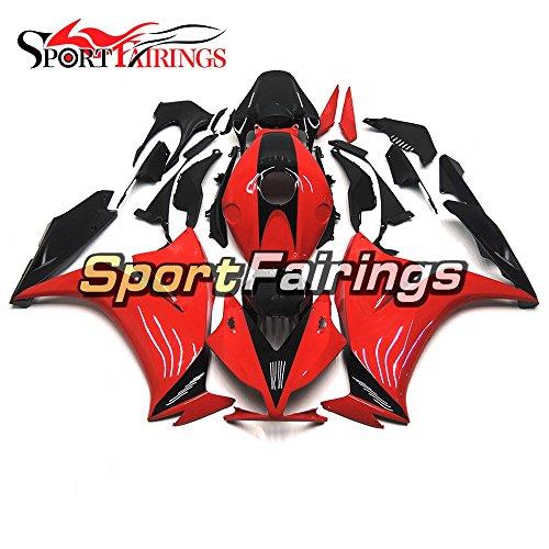 Sportfairings Black Red Injection Plastics ABS Motorcycle Fairing Kits For Honda CBR1000RR Year 2012 2013 2014 2015 Fairings